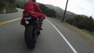 getlinkyoutube.com-Go Pro HERO - Sportbike Riders on Mulholland Highway - Snake Mulholland