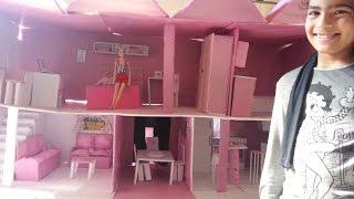 getlinkyoutube.com-Casa da barbie feita de papelão ★ SUA AMIGA