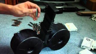 getlinkyoutube.com-Loading the ARMATAC SAW-MAG (150 round AR-15 drum)