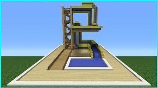 getlinkyoutube.com-Minecraft Tutorial: How To Make A Bendy Water Slide (Mini Water Park)