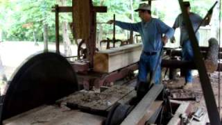 getlinkyoutube.com-Frick saw mill powered by 2 stroke diesel