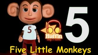 getlinkyoutube.com-Five Little Monkeys | Family Sing Along - Muffin Songs
