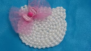 getlinkyoutube.com-Como Hacer elegante Moño  facil en fieltro y perlas, Lazos Elegantes