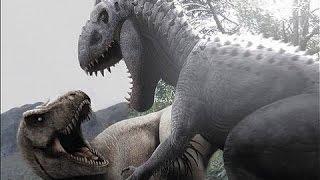getlinkyoutube.com-Indominus Rex vs T.rex  Jurassic Park Operation Genesis Dino Duels.