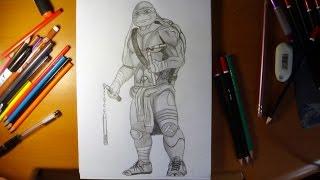 getlinkyoutube.com-How to draw ninja turtles  Michelangelo from movie 2014