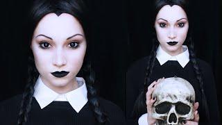 getlinkyoutube.com-Wednesday Addams Makeup Tutorial