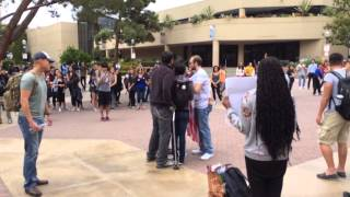 getlinkyoutube.com-Stepping on the American flag at UCLA