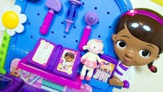 getlinkyoutube.com-Doc McStuffins Toys Get Better Checkup Center Playset Disney Toy