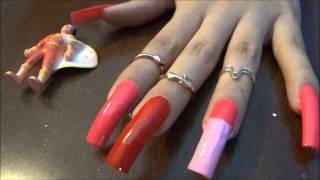 getlinkyoutube.com-Polishing My Long Natural Nails!