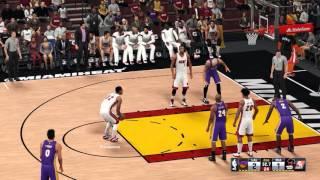 getlinkyoutube.com-NBA 2K16 - Los Angeles Lakers vs. Miami Heat