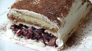 getlinkyoutube.com-No Bake Black Forest Cake | One Pot Chef