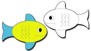 getlinkyoutube.com-طريقة رسم سمكة للاطفال
