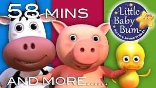 getlinkyoutube.com-Old MacDonald Had A Farm | Plus Lots More Nursery Rhymes! | 58 Mins Compilation from LittleBabyBum!