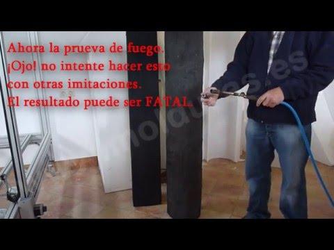 Maderos y vigas rústicas imitacion madera de poliestireno ignífugos interior exterior