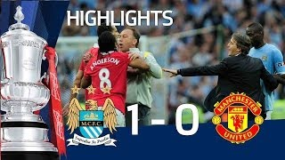 getlinkyoutube.com-Man City 1-0 Man United Official Highlights | The FA Cup Semi Final