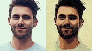 getlinkyoutube.com-Photoshop Tutorial: Transform Portrait into Fast Easy Pop Art