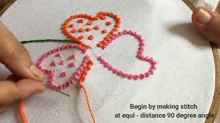 Hand Embroidery | Moti tanka | Bead stitch | Very easy