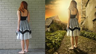 getlinkyoutube.com-Photoshop Manipulation Tutorials Photo Effects | Walking Girl
