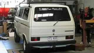 Paul Brandt's VW Kombi T3 with Suby EJ25 motor on dyno