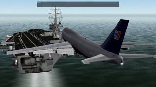 getlinkyoutube.com-X-Plane 9 - Boeing 747 Aircraft Carrier landing
