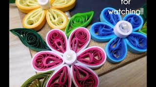 getlinkyoutube.com-How to make simple Paper Quilling Photo Frame design?