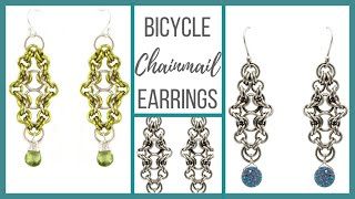 Bicycle Chainmail Earrings Tutorial - Beaducation.com