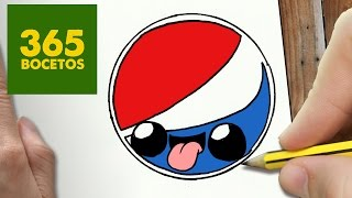 getlinkyoutube.com-COMO DIBUJAR LOGO PEPSI KAWAII PASO A PASO - Dibujos kawaii faciles - How to draw a LOGO PEPSI