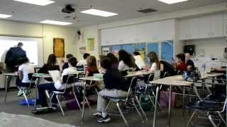 getlinkyoutube.com-Flash Mob in Math Class: Mr. Huizar is Just Awesome