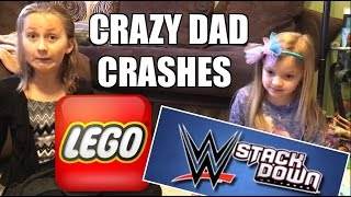 getlinkyoutube.com-KIDS REACT TO CRAZY DAD CRASHING WWE STACKDOWN LEGO AIRPLANES