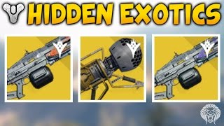 getlinkyoutube.com-Destiny: HIDDEN EXOTIC WEAPONS! Dubious Volley Launcher, Solar & Void Thunderlord (The Taken King)