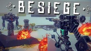 getlinkyoutube.com-Best of Besiege: Sniper Rifle, Mech Robots, & Flying Car!