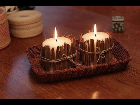 Cómo hacer velas decorativas