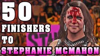 getlinkyoutube.com-WWE 2K16 | 50 Finishers To Stephanie McMahon