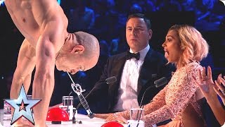 getlinkyoutube.com-Alex Magala takes our breath away with chainsaw stunt | Grand Final | Britain's Got Talent 2016
