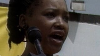 Mandela's daughter reads letter rejecting condtional release