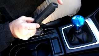 getlinkyoutube.com-2015 WRX/STI How to change the e-brake handle and button