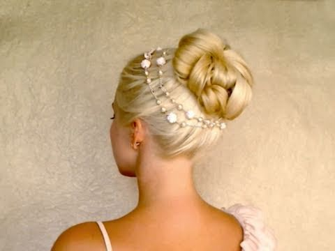 Elegant bun hairstyles for long hair tutorial Easy summer wedding updo 2011 with extensions
