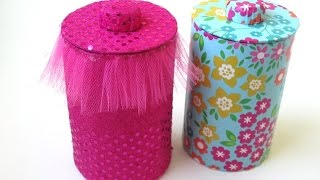getlinkyoutube.com-DIY: Storage Jars & Lids - Recycling Cardboard