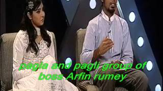 getlinkyoutube.com-Pagla and pagli group of boss Arfin Rumi and porshi Desh tv duet program by Md Imran Khan