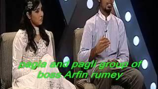 Pagla and pagli group of boss Arfin Rumi and porshi Desh tv duet program by Md Imran Khan