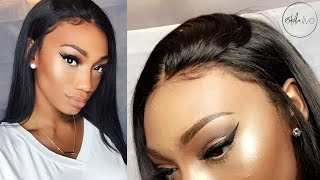 getlinkyoutube.com-HAIR | GLUELESS LACE FRONTAL WIG INSTALLATION!