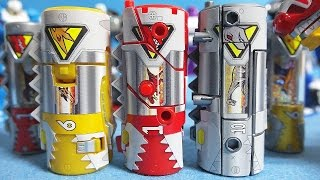 getlinkyoutube.com-파워레인저 다이노포스 3종류 변신 다이노셀 만들기 장난감 Power Rangers Dino Charge 3 Dino Cells transforming toys