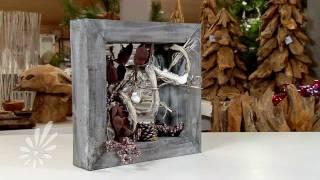 getlinkyoutube.com-Houten spiegel met droogmaterialen decoreren door Romeo Sommers