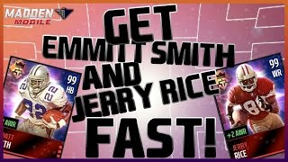 getlinkyoutube.com-QUICKEST WAY TO GET EMMITT SMITH AND JERRY RICE | Madden Mobile 16