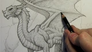 getlinkyoutube.com-How to Draw a Dragon: Step-By-Step (Narrated Version)