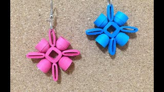 getlinkyoutube.com-Quilling Earrings Authentic using quilling mould & sweker