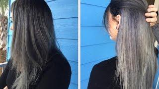 How To: Do a Dark Grey Ombre | Hair Tutorial