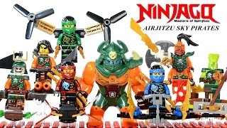 getlinkyoutube.com-Ninjago Airjitzu Sky Pirate Flyers Micro Build Unofficial LEGO Knockoff Minifigures Set 35