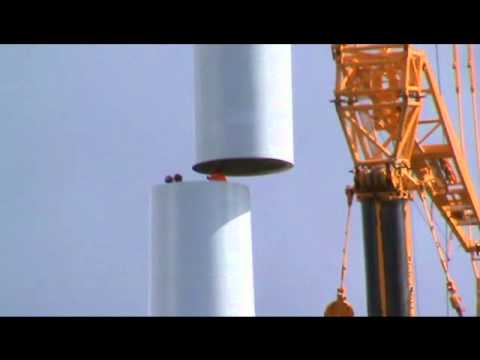 Delivery and assembly of a wind turbine