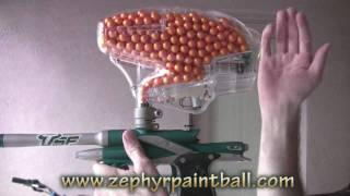 getlinkyoutube.com-.50 Caliber Modified Pinokio Paintball Hopper (700+ rounds!)